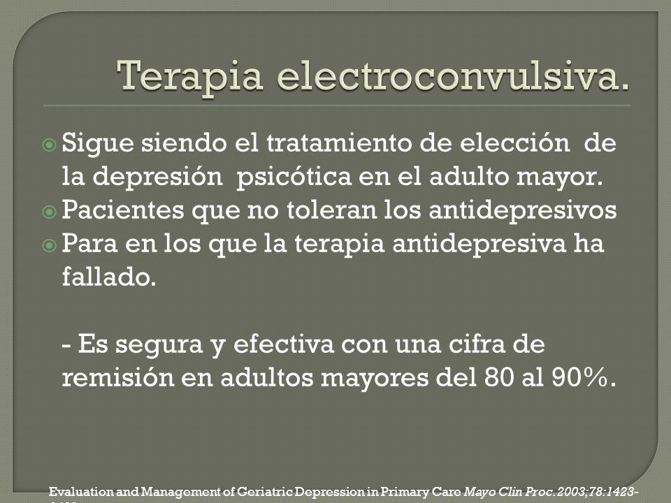 Terapia electroconvulsiva.