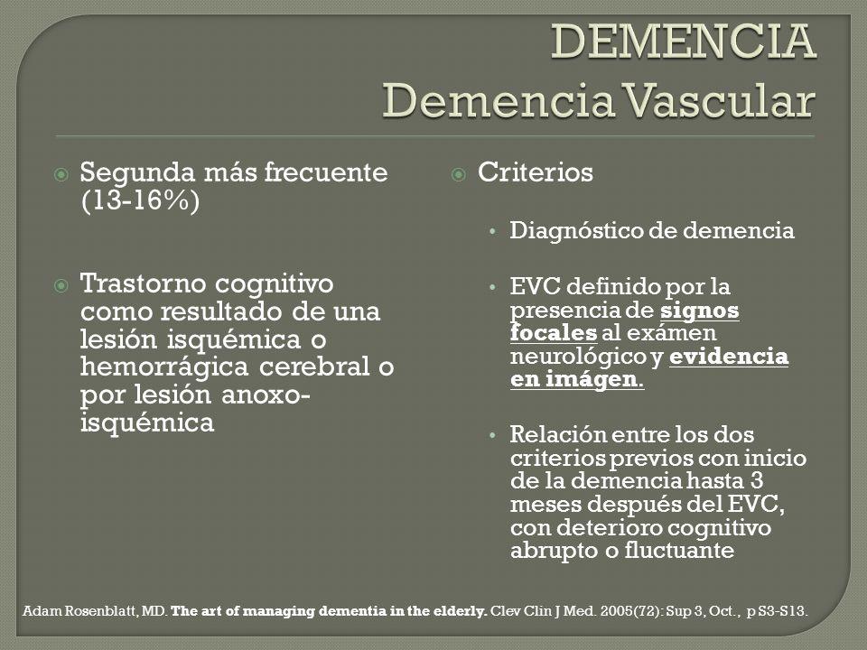 DEMENCIA Demencia Vascular