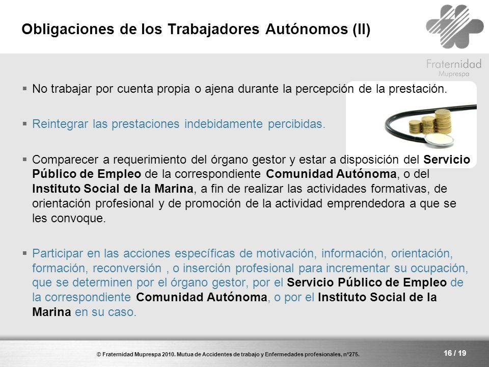 Obligaciones de los Trabajadores Autónomos (II)