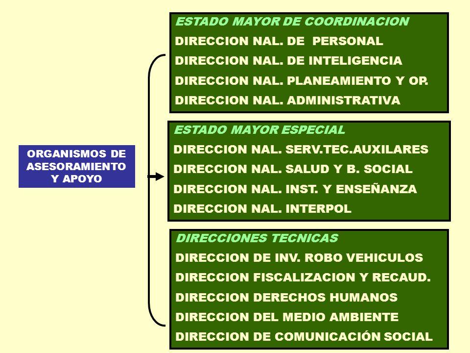 ORGANISMOS DE ASESORAMIENTO Y APOYO