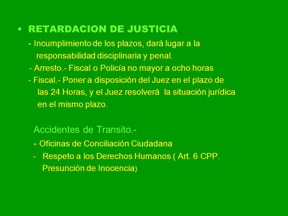 RETARDACION DE JUSTICIA