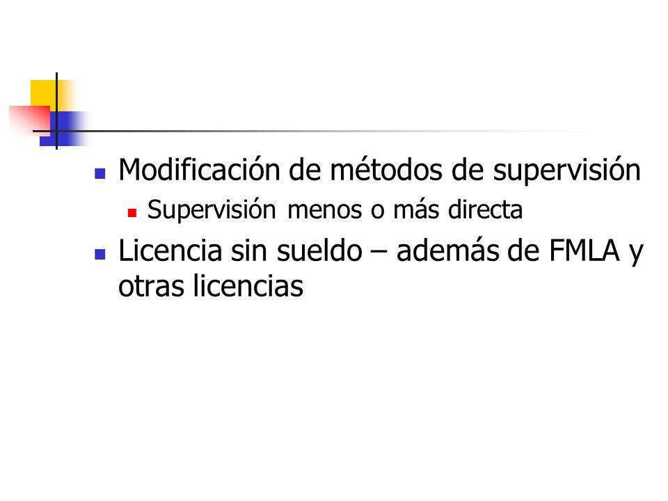 Modificación de métodos de supervisión