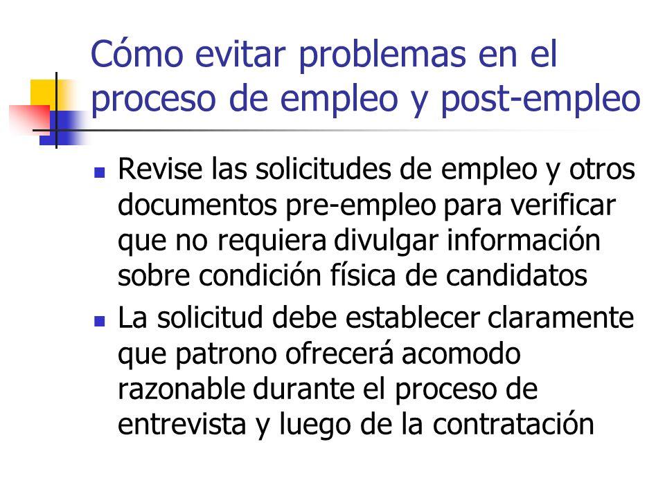 Cómo evitar problemas en el proceso de empleo y post-empleo