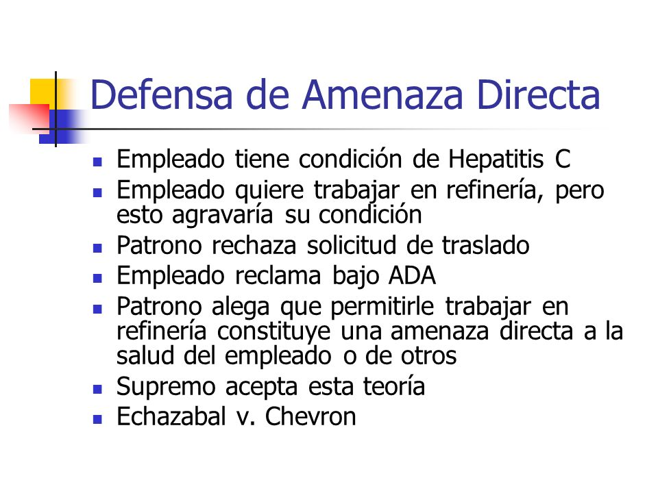 Defensa de Amenaza Directa