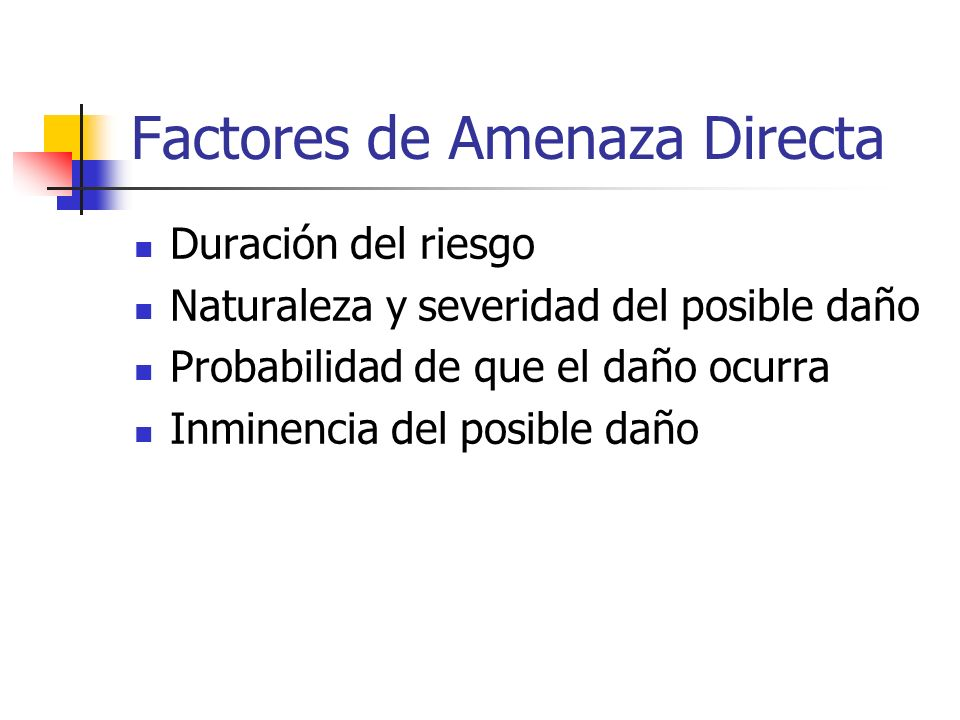 Factores de Amenaza Directa