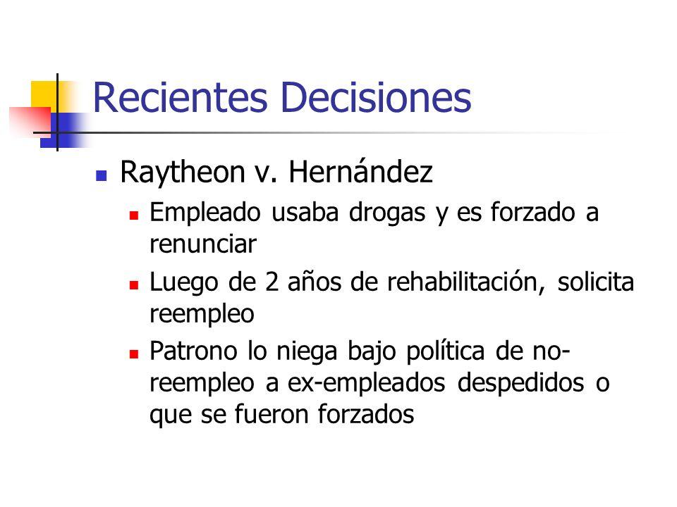 Recientes Decisiones Raytheon v. Hernández