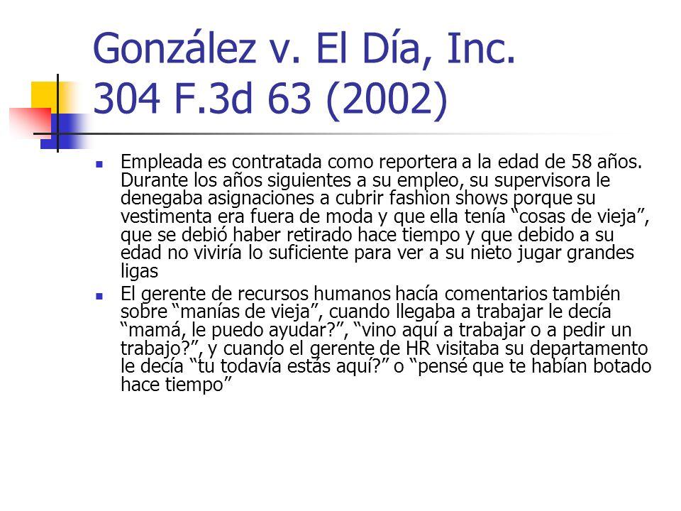 González v. El Día, Inc. 304 F.3d 63 (2002)