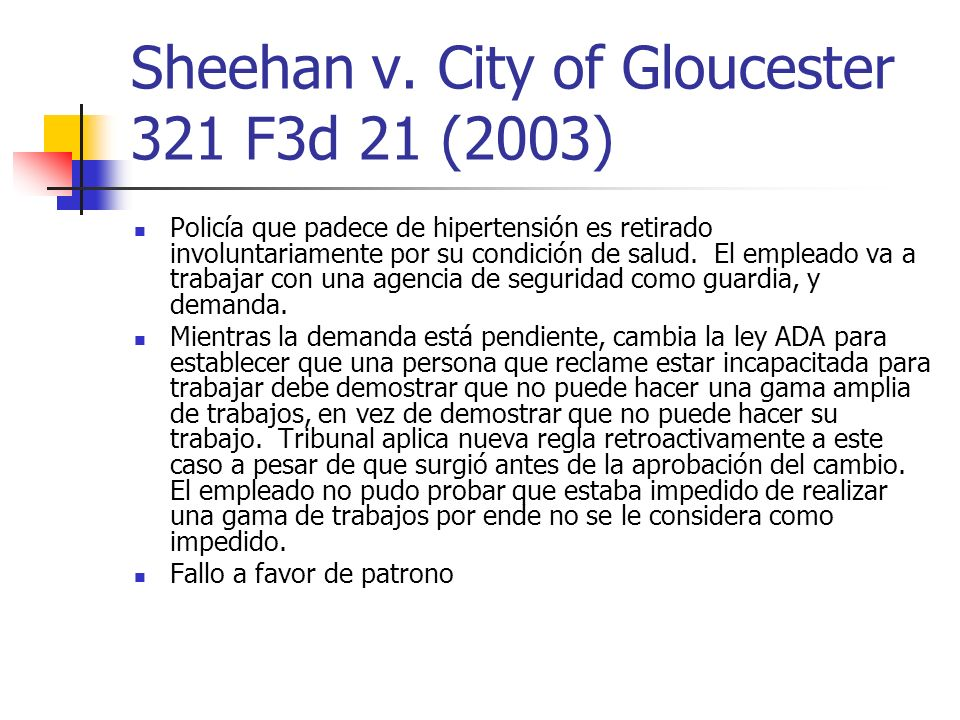 Sheehan v. City of Gloucester 321 F3d 21 (2003)