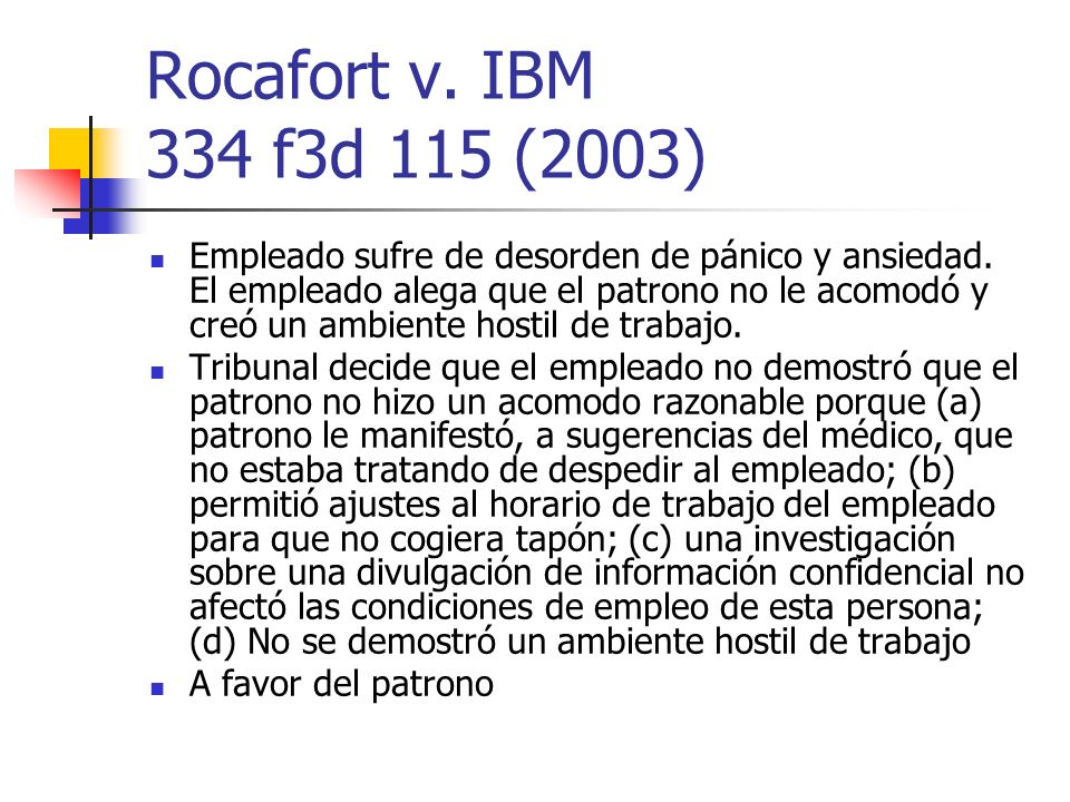 Rocafort v. IBM 334 f3d 115 (2003)
