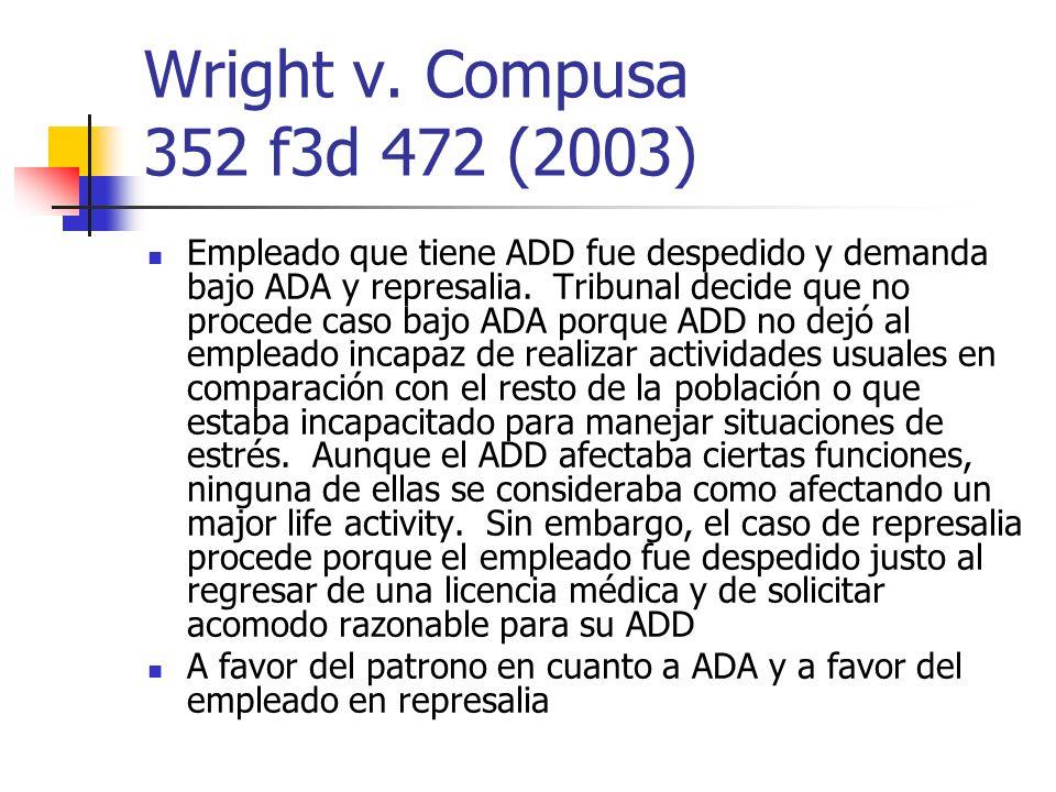 Wright v. Compusa 352 f3d 472 (2003)