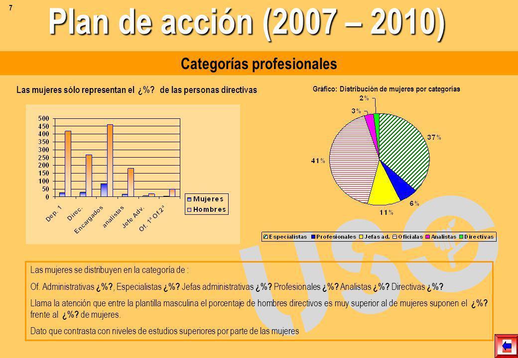 Plan de acción (2007 – 2010) Categorías profesionales
