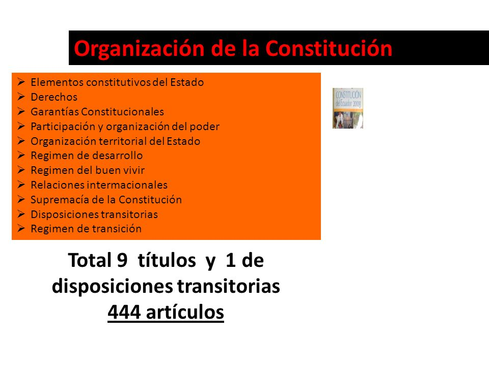 Total 9 títulos y 1 de disposiciones transitorias