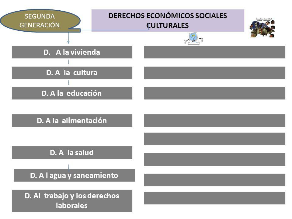 DERECHOS ECONÓMICOS SOCIALES CULTURALES