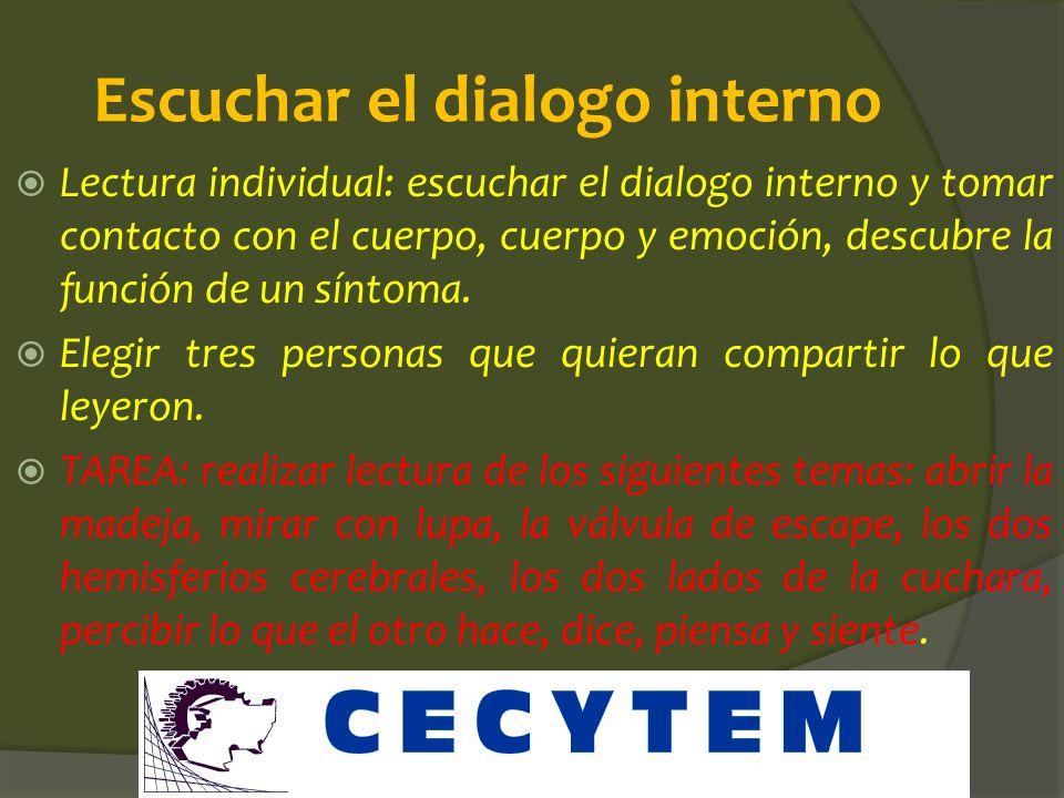 Escuchar el dialogo interno