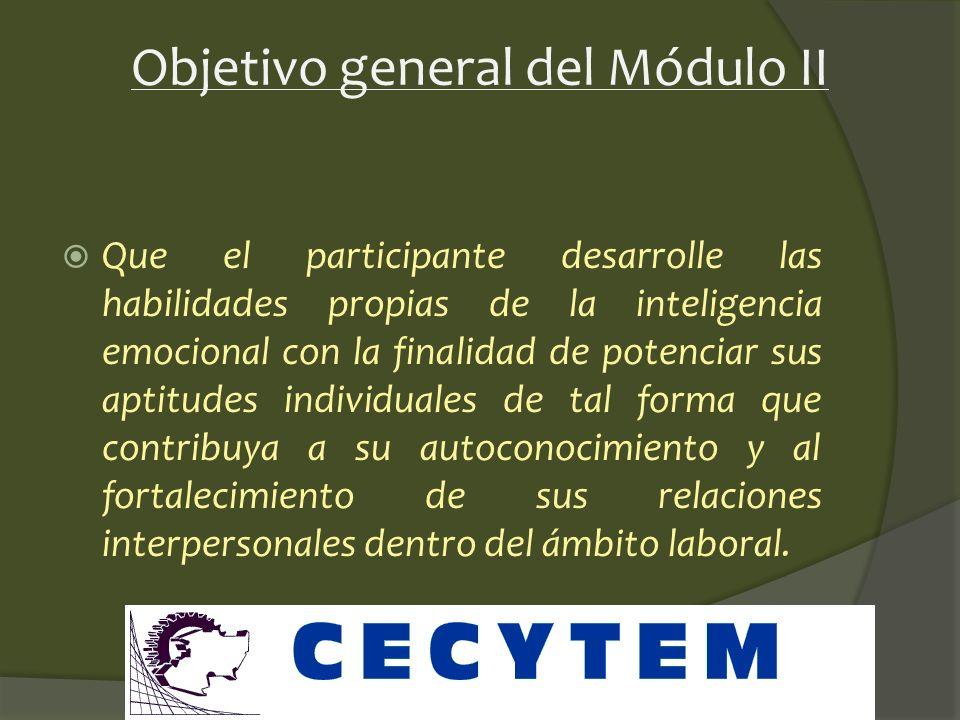 Objetivo general del Módulo II