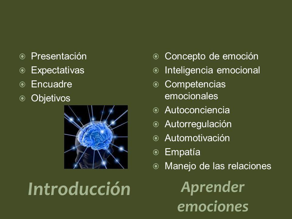 Introducción Aprender emociones Presentación Expectativas Encuadre