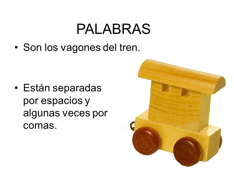 PALABRAS Son los vagones del tren.