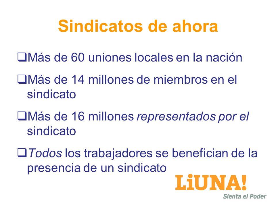 Sindicatos de ahora Más de 60 uniones locales en la nación