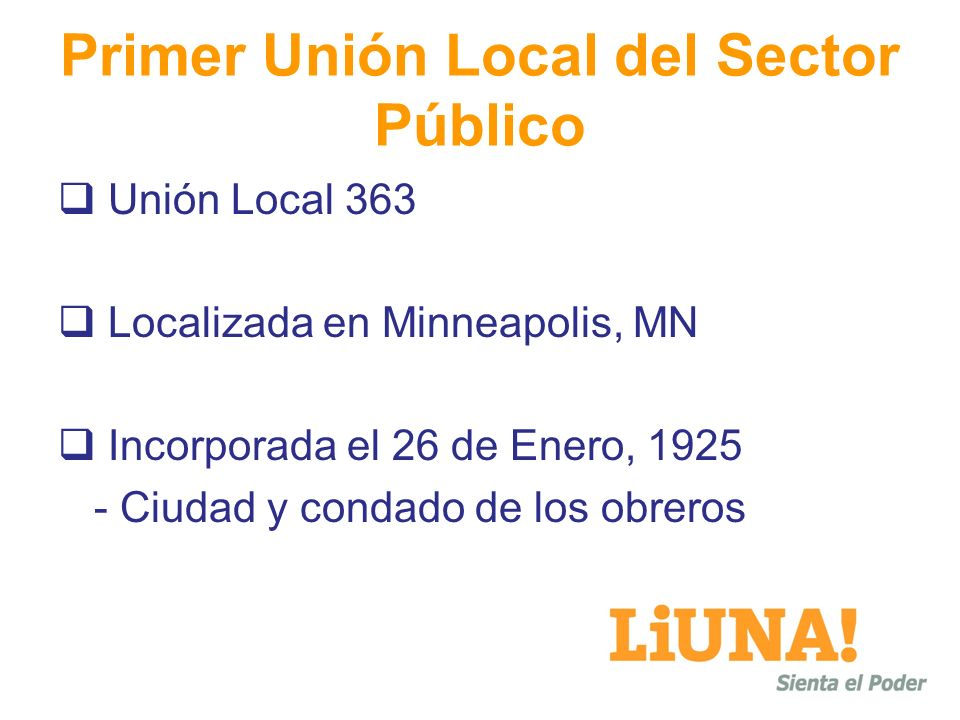 Primer Unión Local del Sector Público