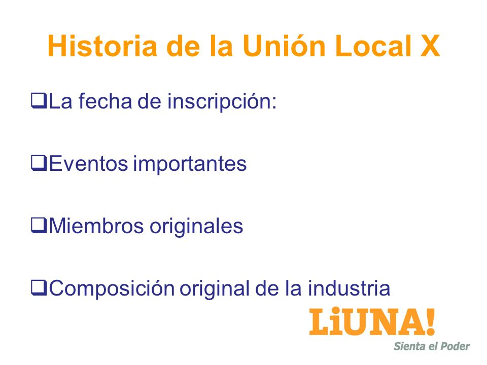 Historia de la Unión Local X