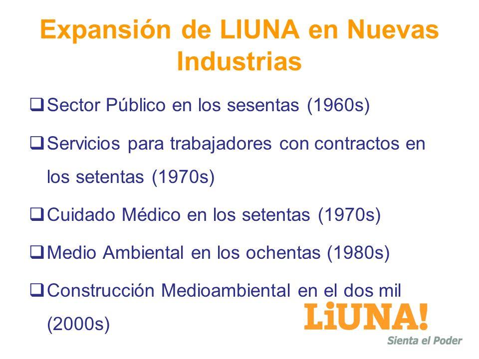 Expansión de LIUNA en Nuevas Industrias