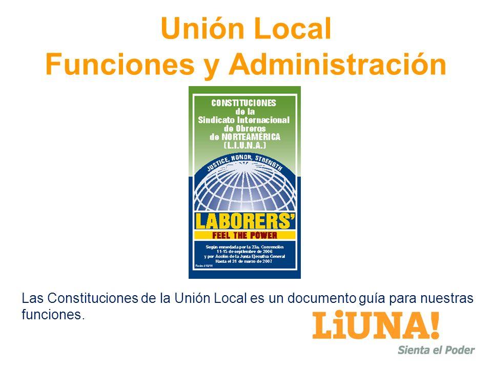 Unión Local Funciones y Administración