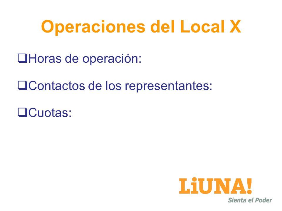 Operaciones del Local X