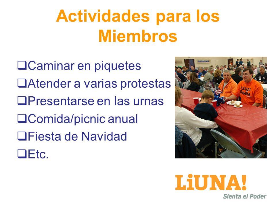 Actividades para los Miembros
