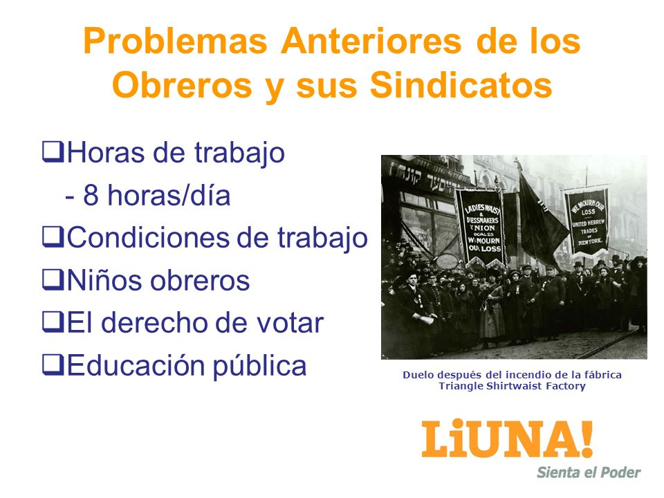 Problemas Anteriores de los Obreros y sus Sindicatos