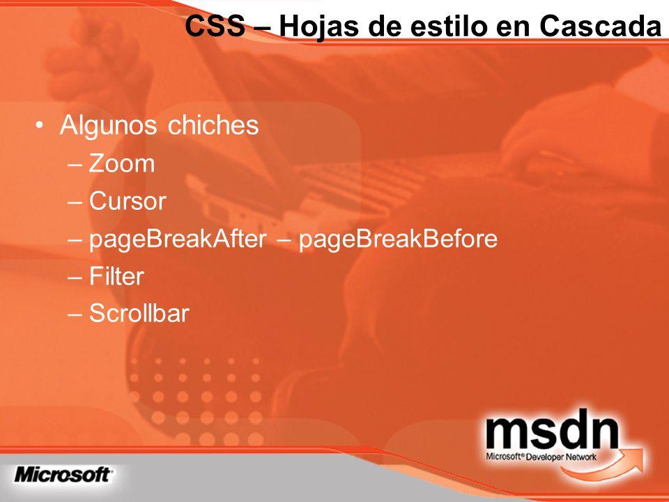 CSS – Hojas de estilo en Cascada