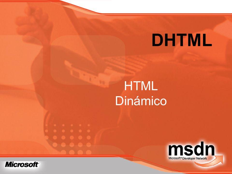 DHTML HTML Dinámico