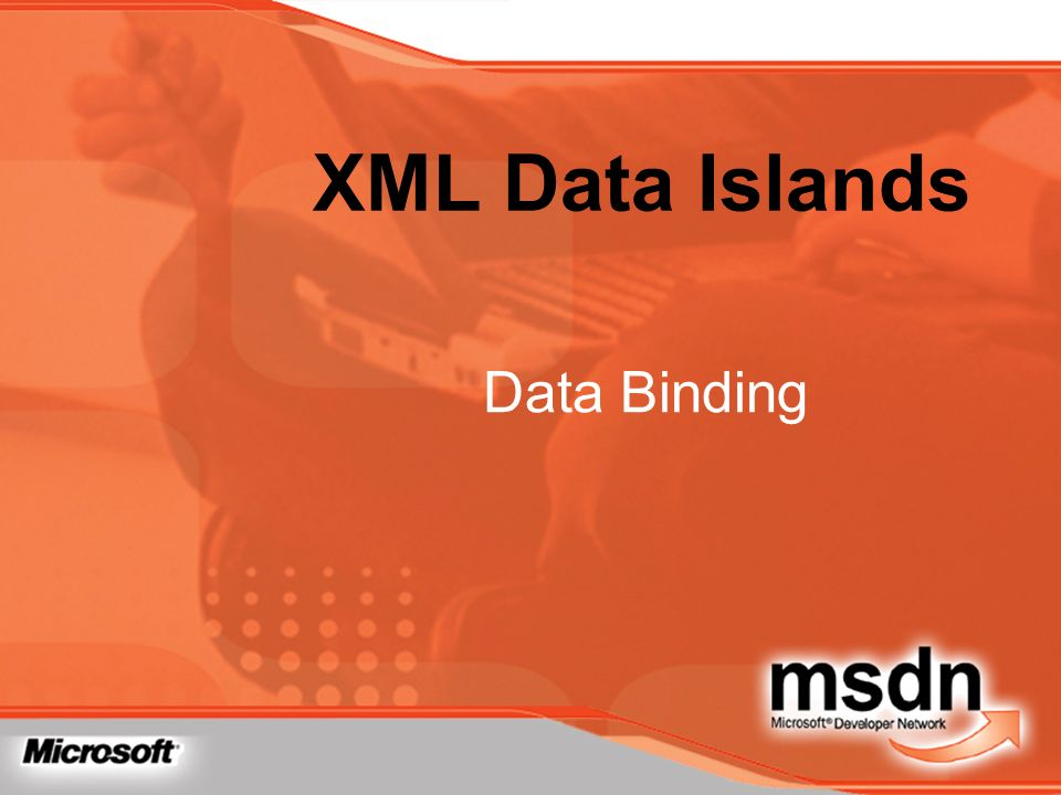 XML Data Islands Data Binding