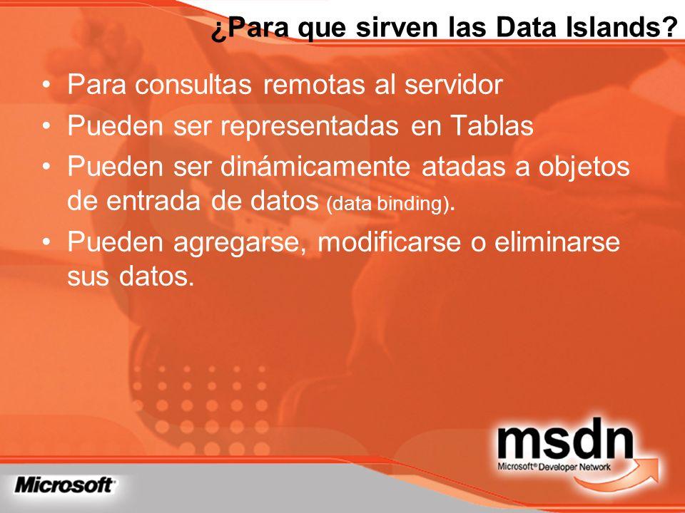 ¿Para que sirven las Data Islands
