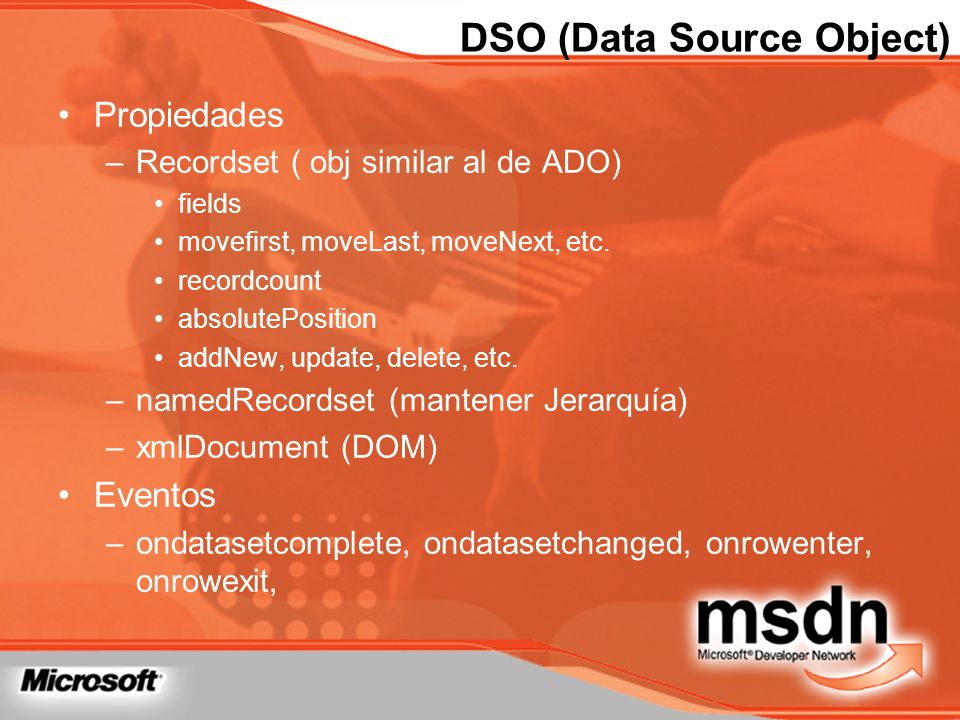 DSO (Data Source Object)