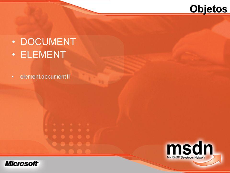 Objetos DOCUMENT ELEMENT element.document !!