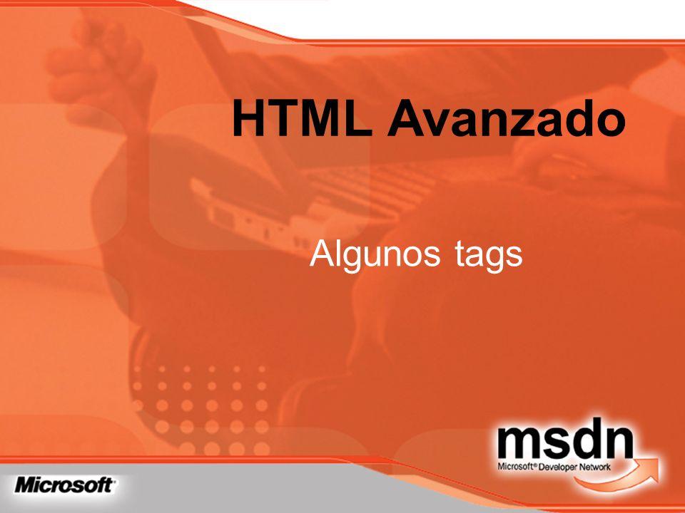 HTML Avanzado Algunos tags