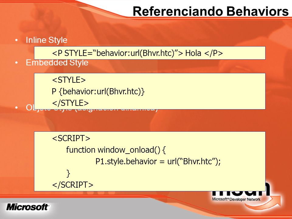 Referenciando Behaviors