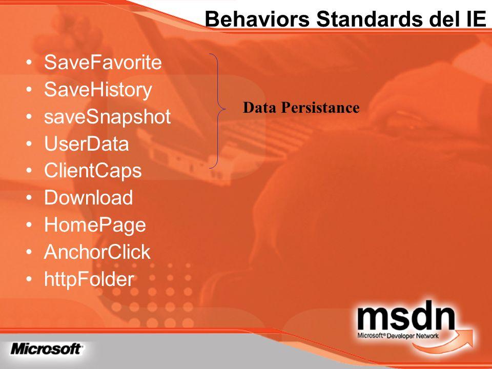 Behaviors Standards del IE