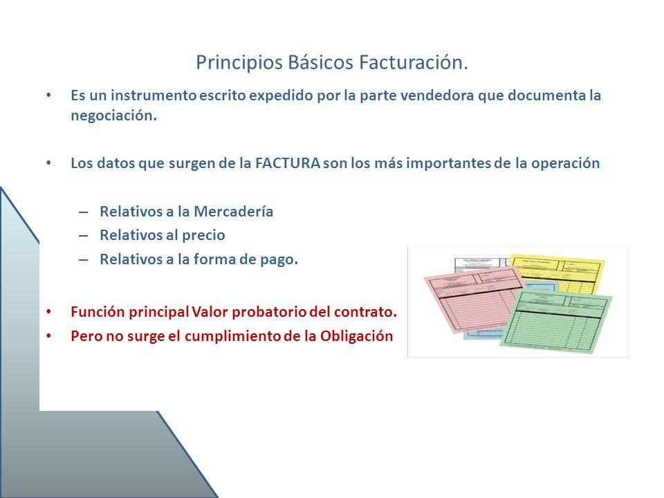 Principios Básicos Facturación.