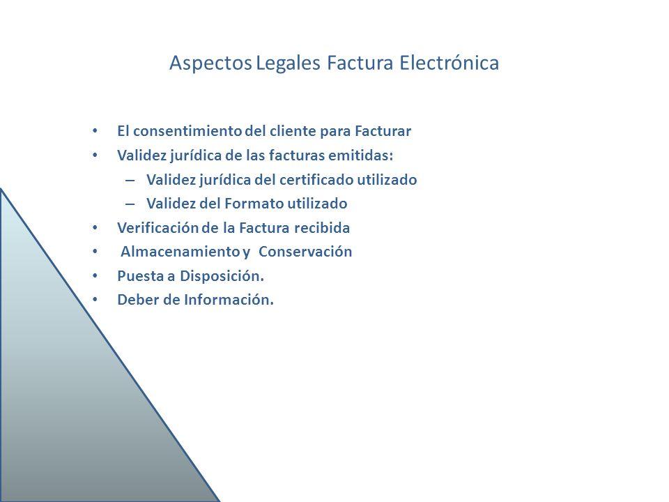 Aspectos Legales Factura Electrónica