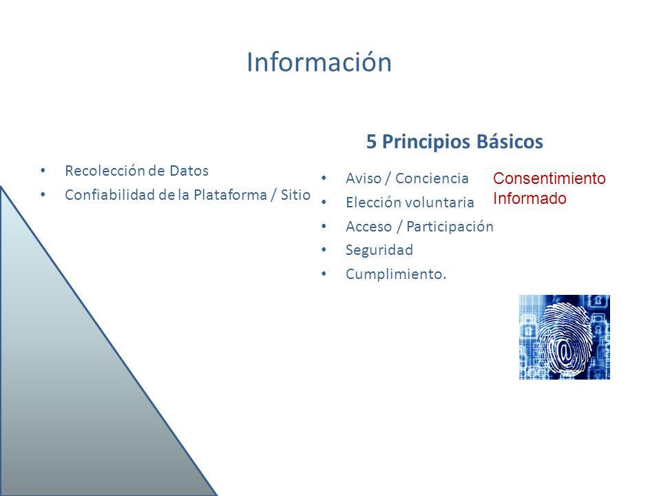 Información 5 Principios Básicos Recolección de Datos