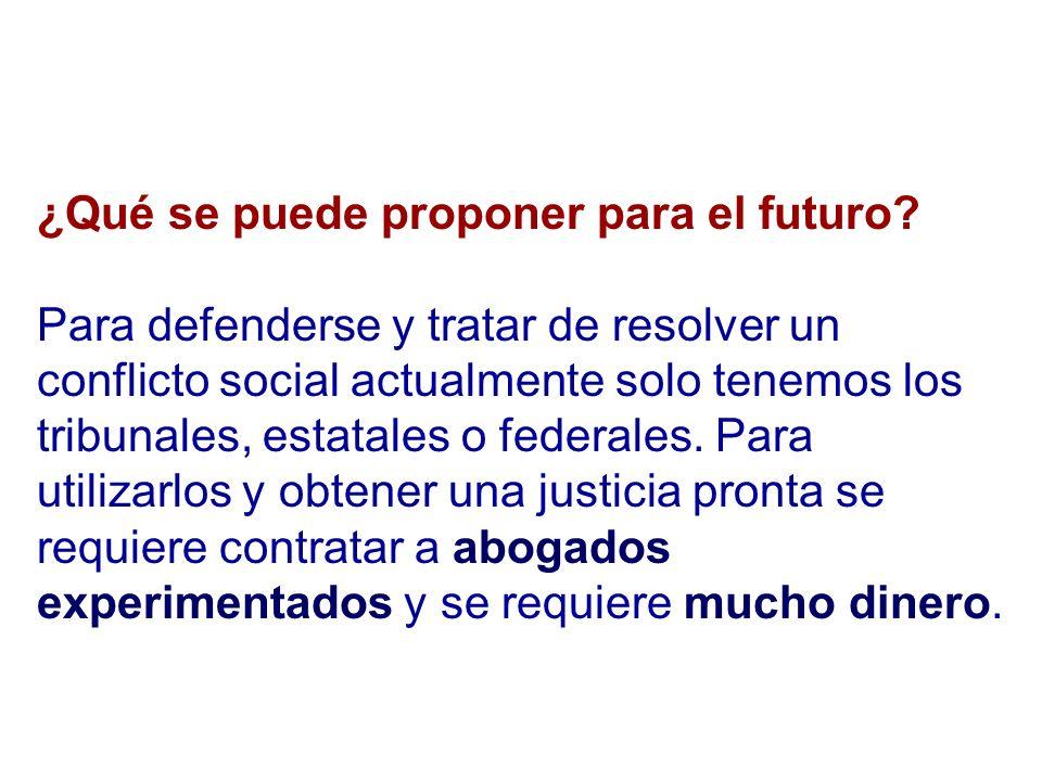 ¿Qué se puede proponer para el futuro