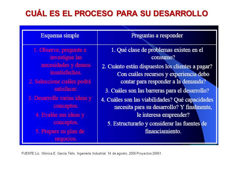 CUÁL ES EL PROCESO PARA SU DESARROLLO