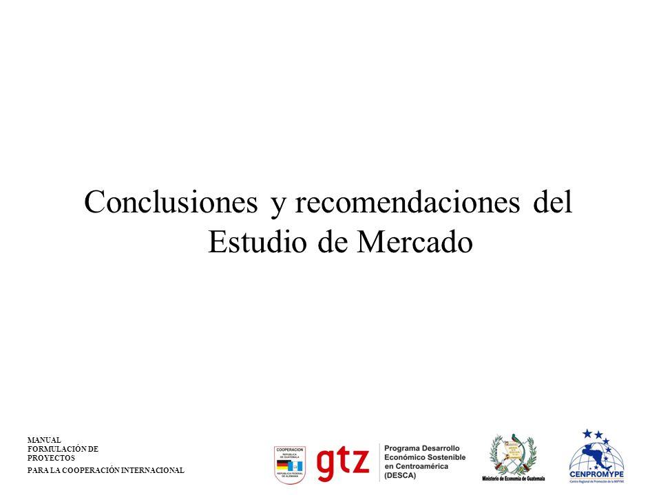 Conclusiones y recomendaciones del Estudio de Mercado
