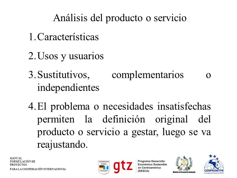 Análisis del producto o servicio