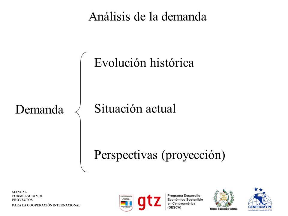 Análisis de la demanda Evolución histórica Situación actual Perspectivas (proyección) Demanda