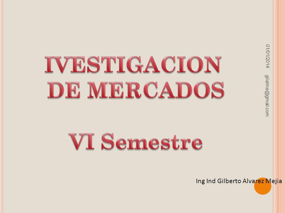 IVESTIGACION DE MERCADOS VI Semestre