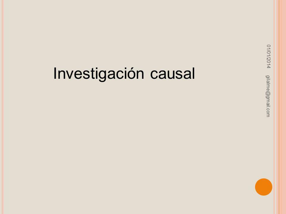23/03/2017 Investigación causal gilalme@gmail.com