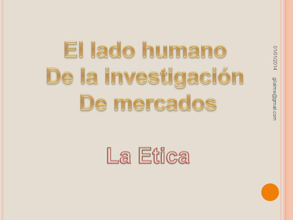 El lado humano De la investigación De mercados La Etica