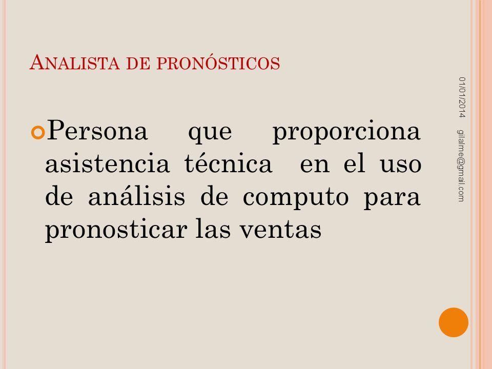 Analista de pronósticos